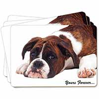 "Boxer Dog ""Yours Forever..."" Picture Placemats in Gift Box"