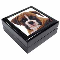 Red and White Boxer Puppy Keepsake/Jewellery Box Christmas Gift