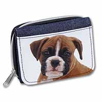 Red and White Boxer Puppy Girls/Ladies Denim Purse Wallet Christmas Gift Idea