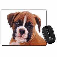 Red and White Boxer Puppy Computer Mouse Mat Christmas Gift Idea