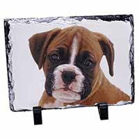 Red and White Boxer Puppy Photo Slate Christmas Gift Ornament