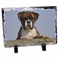 "Boxer Dog ""Yours Forever..."" Photo Slate Photo Ornament Gift"