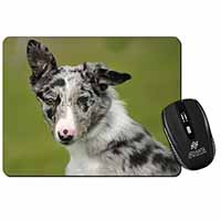 Blue Merle Border Collie Dog Computer Mouse Mat Christmas Gift Idea