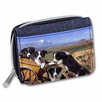 Border Collie Girls/Ladies Denim Purse Wallet Birthday Gift Idea