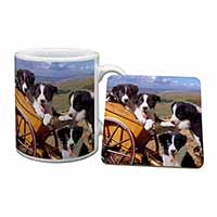 Border Collie Mug+Coaster Birthday Gift Idea
