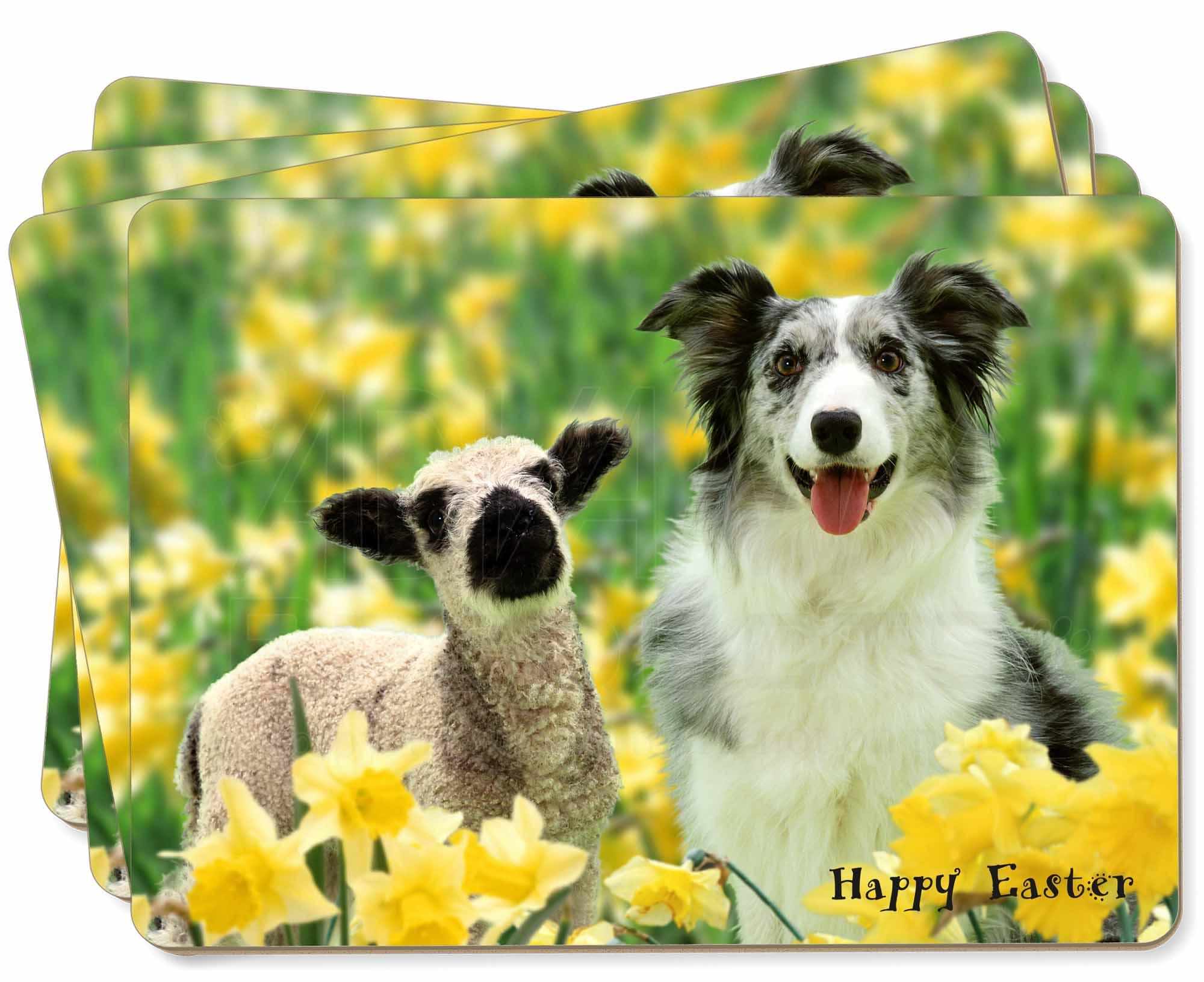 Cotton Drill Adult Apron Cream Border Collie Dog /& Sheep Natural