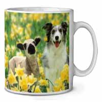 Border Collie Dog and Lamb Coffee/Tea Mug Gift Idea