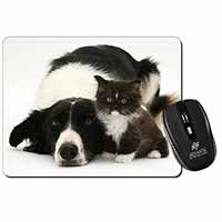 Border Collie and Kitten Computer Mouse Mat Birthday Gift Idea