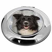 Border Collie Dog Make-Up Round Compact Mirror Girly Gift