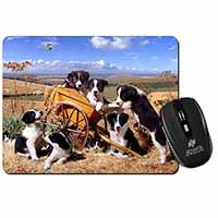 Border Collie in Wheelbarrow Computer Mouse Mat Birthday Gift Idea