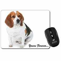 "Beagle Dog ""Yours Forever..."" Computer Mouse Mat Birthday Gift Idea"