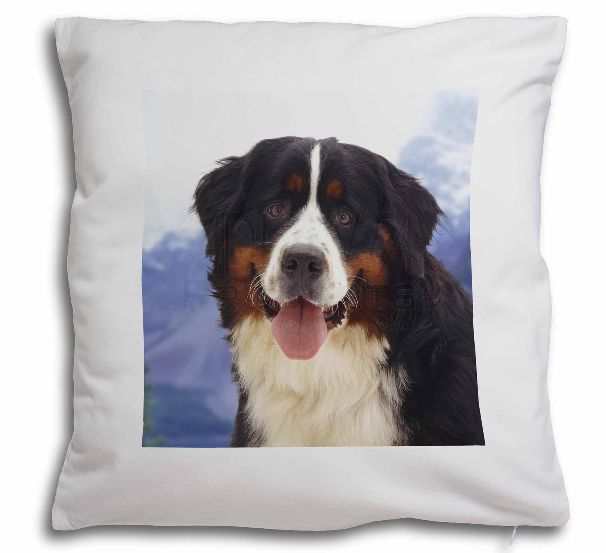 Bernese Mountain Dog Soft Velvet Feel Cushion Cover With Inner Pill Ad Ber6 Cpw Ebay