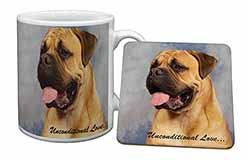 Bullmastiff Dog-With Love Mug+Coaster Birthday Gift Idea