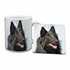 Black Belgian Shepherd Dog Mug+Coaster Christmas/Birthday Gift Idea