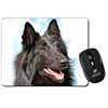 Black Belgian Shepherd Dog Computer Mouse Mat Christmas Gift Idea