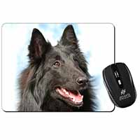 Black Belgian Shepherd Dog Computer Mouse Mat Birthday Gift Idea