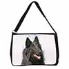 Black Belgian Shepherd Dog Large Black Laptop Shoulder Bag School/College