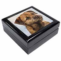 Border Terrier Keepsake/Jewellery Box Christmas Gift