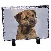 Border Terrier Photo Slate Christmas Gift Ornament