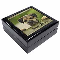 "Border Terrier Puppy Dog ""Yours Forever..."" Keepsake/Jewel Box Birthday Gift Ide"