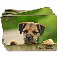 "Border Terrier Puppy Dog ""Yours Forever..."" Picture Placemats in Gift Box"