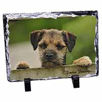 "Border Terrier Puppy Dog ""Yours Forever..."" Photo Slate Christmas Gift Idea"
