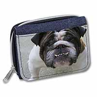 Bulldog Girls/Ladies Denim Purse Wallet Birthday Gift Idea