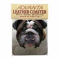 Bulldog Single Leather Photo Coaster Perfect Gift