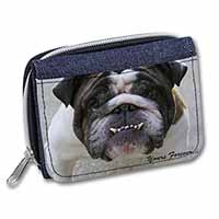 "Bulldog ""Yours Forever..."" Girls/Ladies Denim Purse Wallet Birthday Gift Idea"