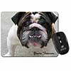 "Bulldog ""Yours Forever..."" Computer Mouse Mat Christmas Gift Idea"