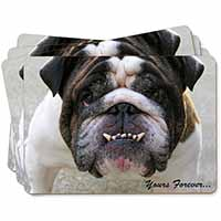 "Bulldog ""Yours Forever..."" Picture Placemats in Gift Box"