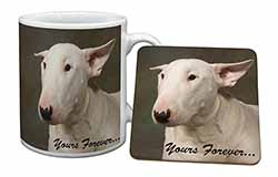 "Bull Terrier Dog ""Yours Forever"" Mug+Coaster Birthday Gift Idea"