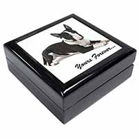 "Brindle and White Bull Terrier ""Yours Forever..."" Keepsake/Jewel Box Birthday Gi"