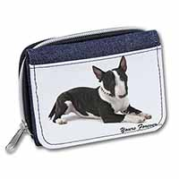 "Brindle and White Bull Terrier ""Yours Forever..."" Girls/Ladies Denim Purse Walle"