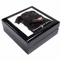 Black Border Collie With Love Keepsake/Jewellery Box Christmas Gift