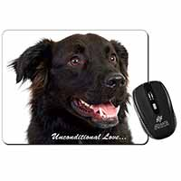 Black Border Collie With Love Computer Mouse Mat Birthday Gift Idea