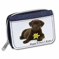 Personalised Name Labrador Girls/Ladies Denim Purse Wallet Birthday Gift Idea