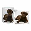 Chesapeake Bay Retriever Dog Mug+Coaster Christmas/Birthday Gift Idea
