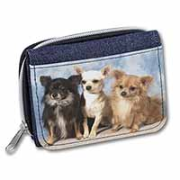 Chihuahua Girls/Ladies Denim Purse Wallet Christmas Gift Idea