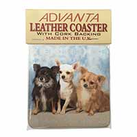 Chihuahua Single Leather Photo Coaster Animal Breed Gift
