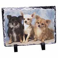 Chihuahua Photo Slate Christmas Gift Ornament