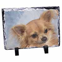 Chihuahua Dog Photo Slate Christmas Gift Ornament