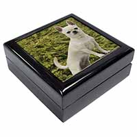 White Chihuahua Dog Keepsake/Jewel Box Birthday Gift Idea