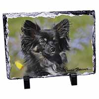 "Black Chihuahua ""Yours Forever..."" Photo Slate Photo Ornament Gift"