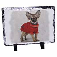 Chihuahua in Dress Photo Slate Christmas Gift Ornament