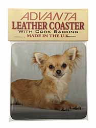 Chihuahua Single Leather Photo Coaster Perfect Gift