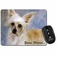 Chinese Crested Powder Puff Dog Computer Mouse Mat Birthday Gift Idea