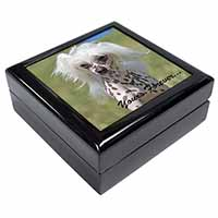 "Chinese Crested Dog ""Yours Forever..."" Keepsake/Jewel Box Birthday Gift Idea"