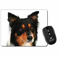 Tri-Colour Border Collie Dog Computer Mouse Mat Birthday Gift Idea