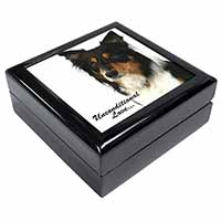 Tri-Colour Border Collie-Love Keepsake/Jewel Box Birthday Gift Idea